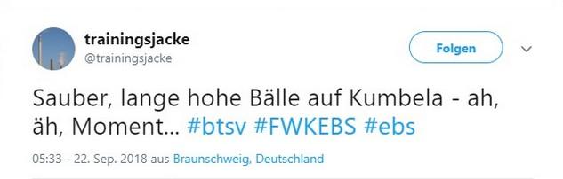 Tweet zu Würzburg gegen Braunschweig