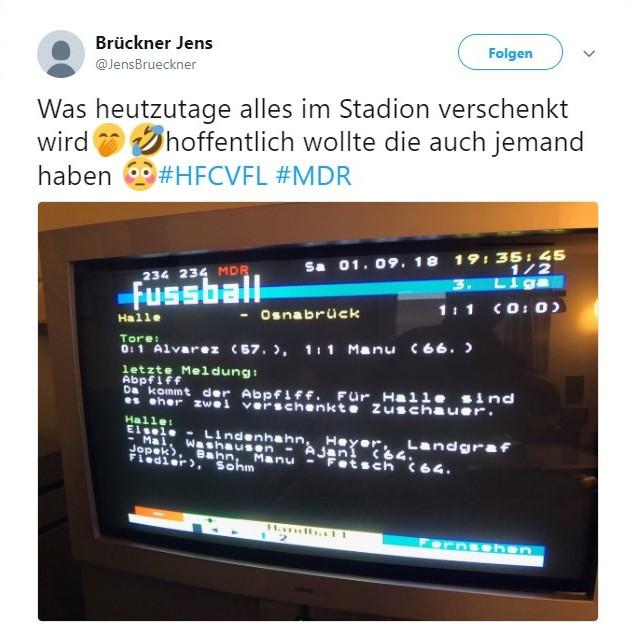 Tweet zu Hallescher FC vs VfL Osnabrück