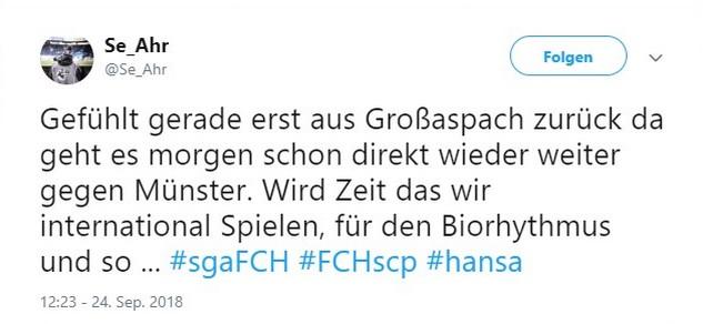 Tweet zu Hansa Rostock gegen Sonnenhof Großaspach