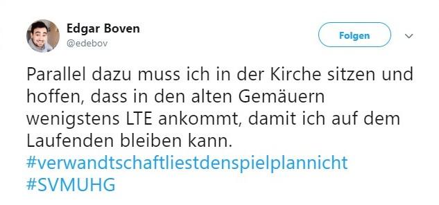 Tweet zu Meppen gegen Unterhaching