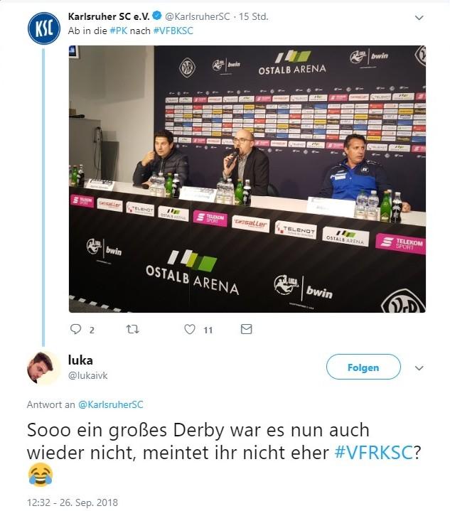 Tweet zu Aalen vs KSC