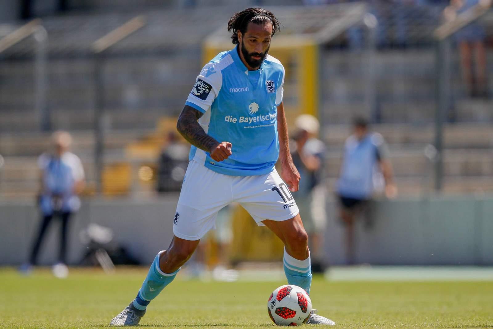 Trifft Adriano Grimaldi auch im zweiten Derby? Jetzt auf 1860 München gegen Würzburger Kickers wetten.