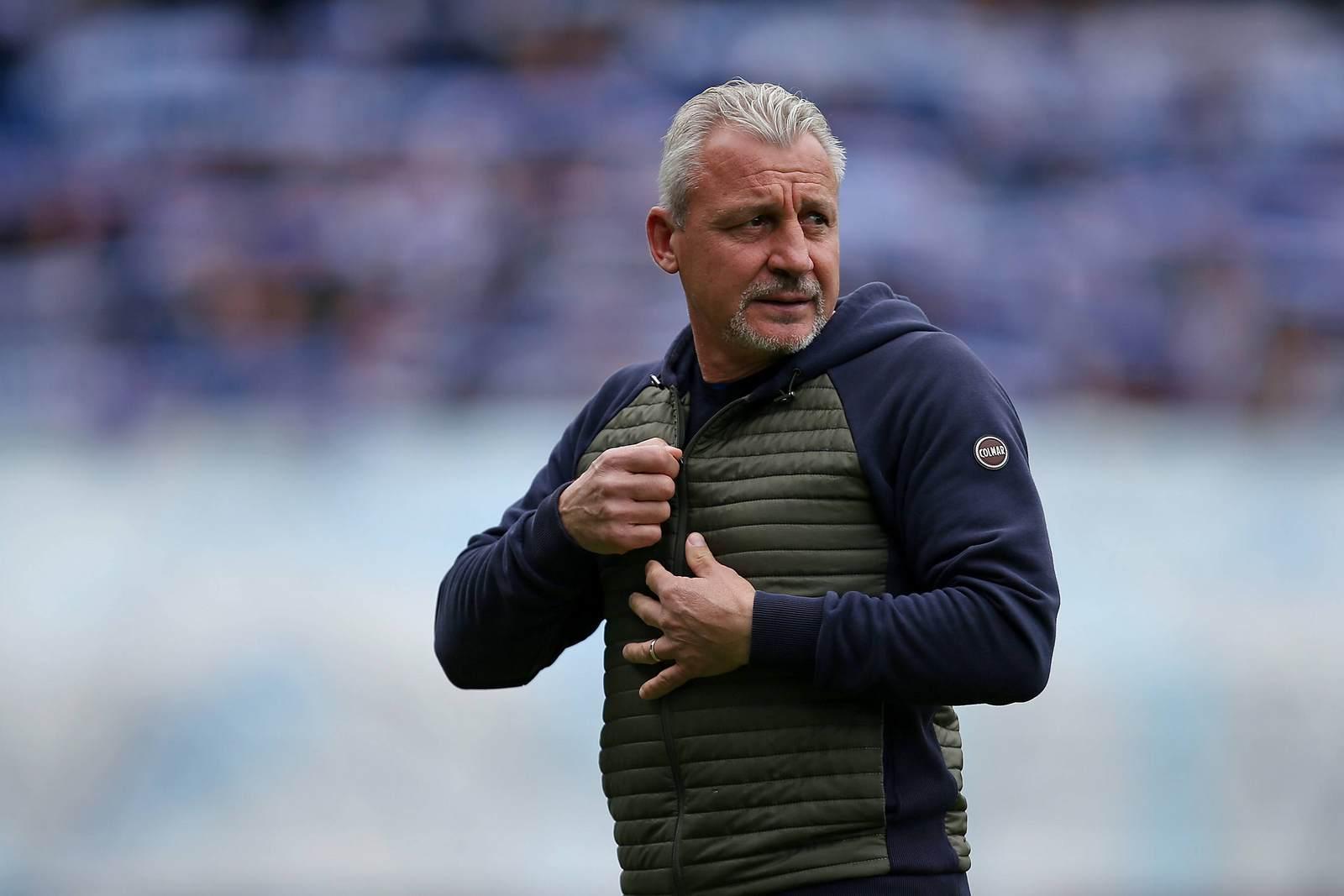Pavel Dotchev als Trainer von Hansa Rostock