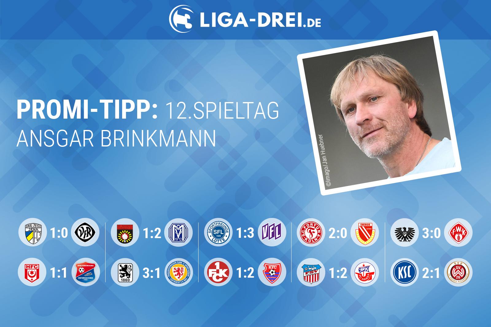 Ansgar Brinkmann tippt den 12. Spieltag 2018/19
