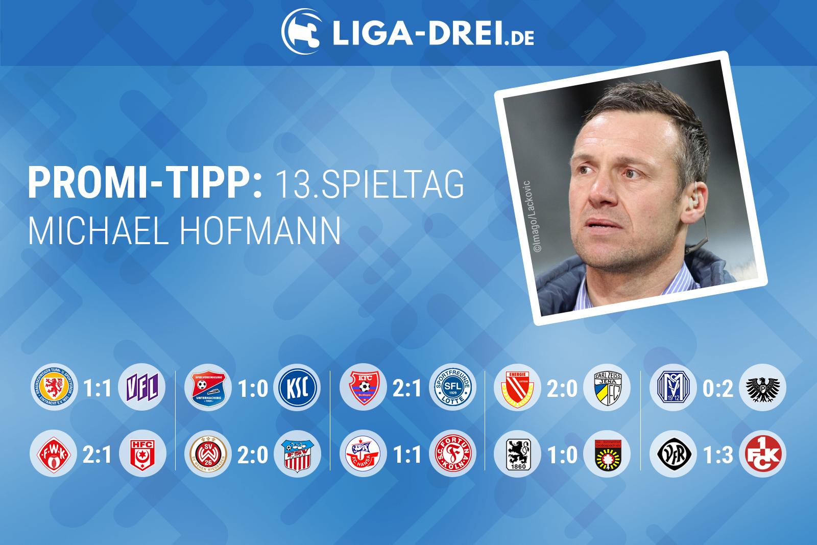 Michael Hofmann beim Liga-Drei.de Promi-Tipp 2018/19
