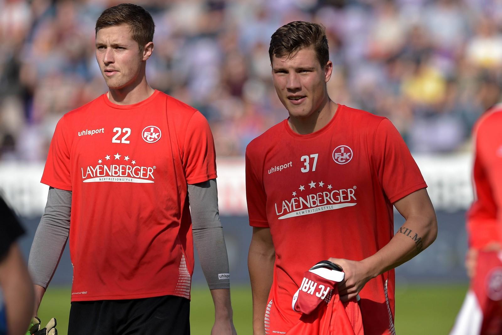 Lennart Grill und Jonas Scholz vom 1. FCK