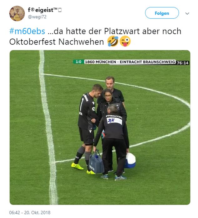 Tweet zu 1860 München gegen Eintracht Braunschweig