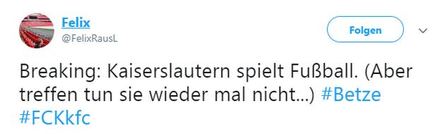 Tweet zu 1. FC Kaiserslautern gegen KFC Uerdingen