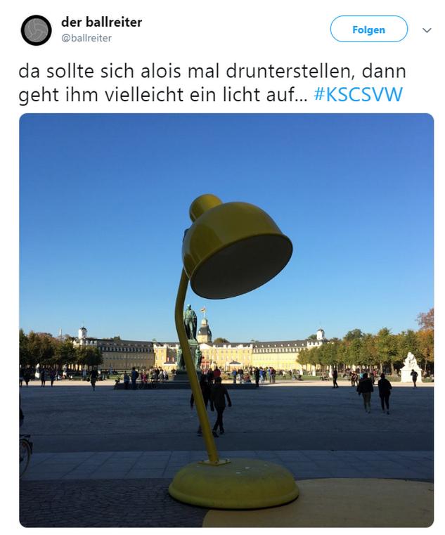 Tweet zu Karlsruher SC gegen Wehen Wiesbaden