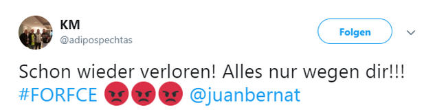 Tweet zu Fortuna Köln gegen Energie Cottbus