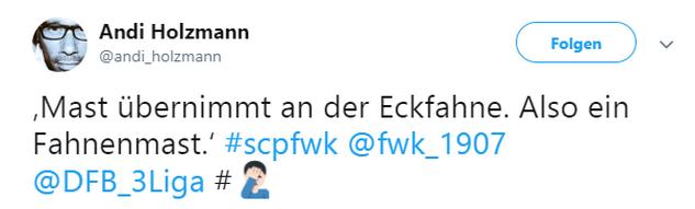 Tweet zu Preußen Münster gegen Würzburger Kickers