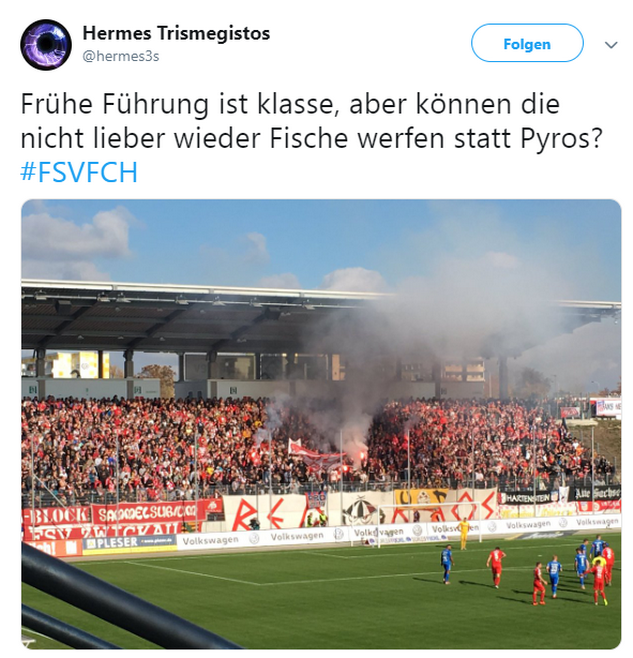Tweet zu FSV Zwickau gegen Hansa Rostock