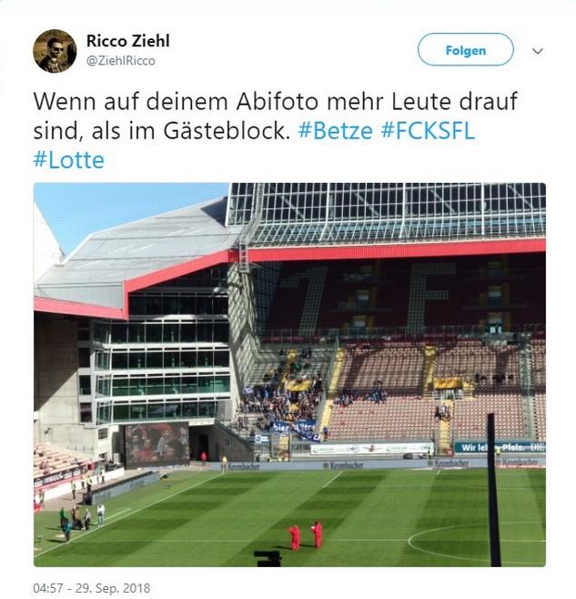 Tweet zu Kaiserslautern vs Lotte