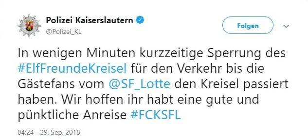 Tweet zu Kaiserslautern vs Sportfreunde Lotte