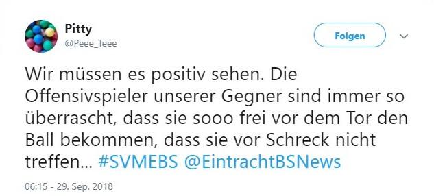 Tweet zu Meppen vs Braunschweig