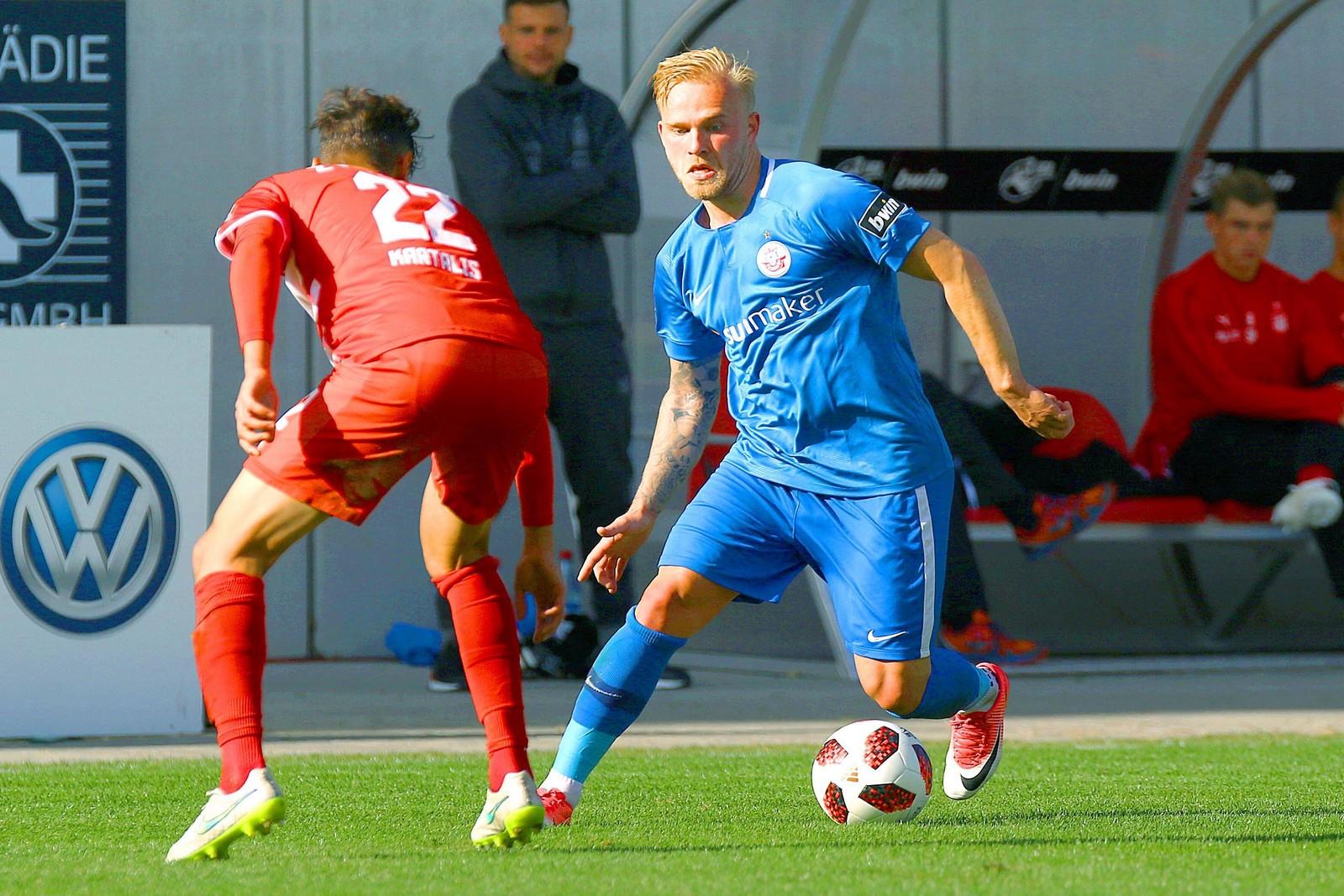 Marcel Hilßner präsentierte sich bei Hansas 3:1-Sieg über Köln am Wochenende in bestechender Form.
