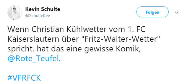Tweet zu Aalen gegen Kaiserslautern