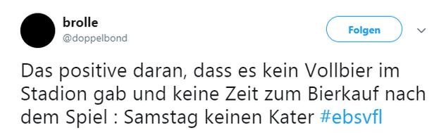 Tweet zu Braunschweig gegen Osnabrück
