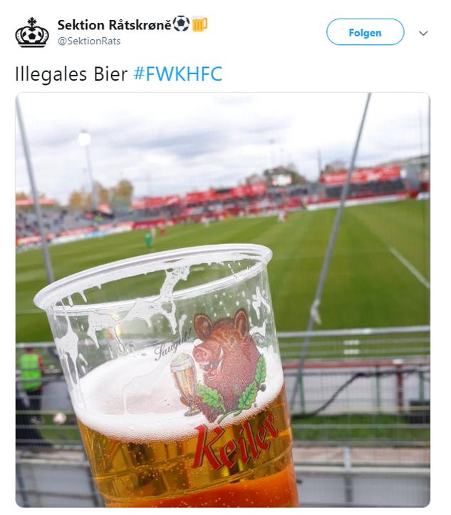 Tweet zu Würzburg gegen Halle