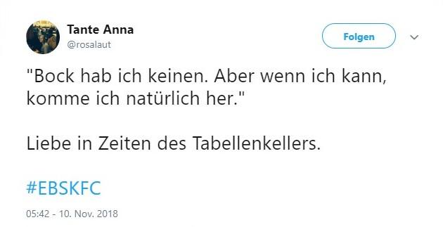 Tweet zu Braunschweig gegen Uerdingen