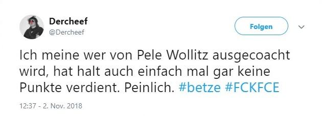 Tweet zu Kaiserslautern gegen Cottbus