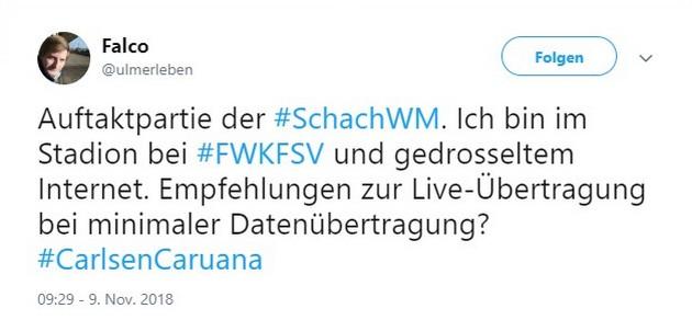 Tweet zu Würzburg gegen Zwickau