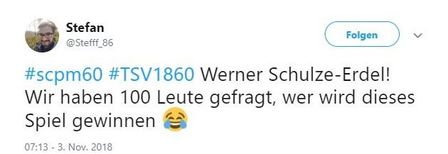Tweet zu Münster gegen 1860 München