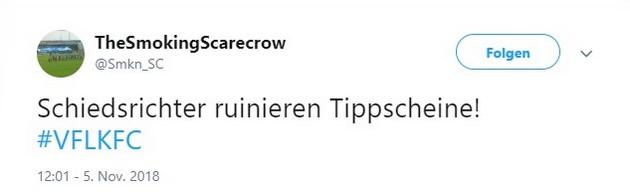 Tweet zu Osnabrück gegen Uerdingen