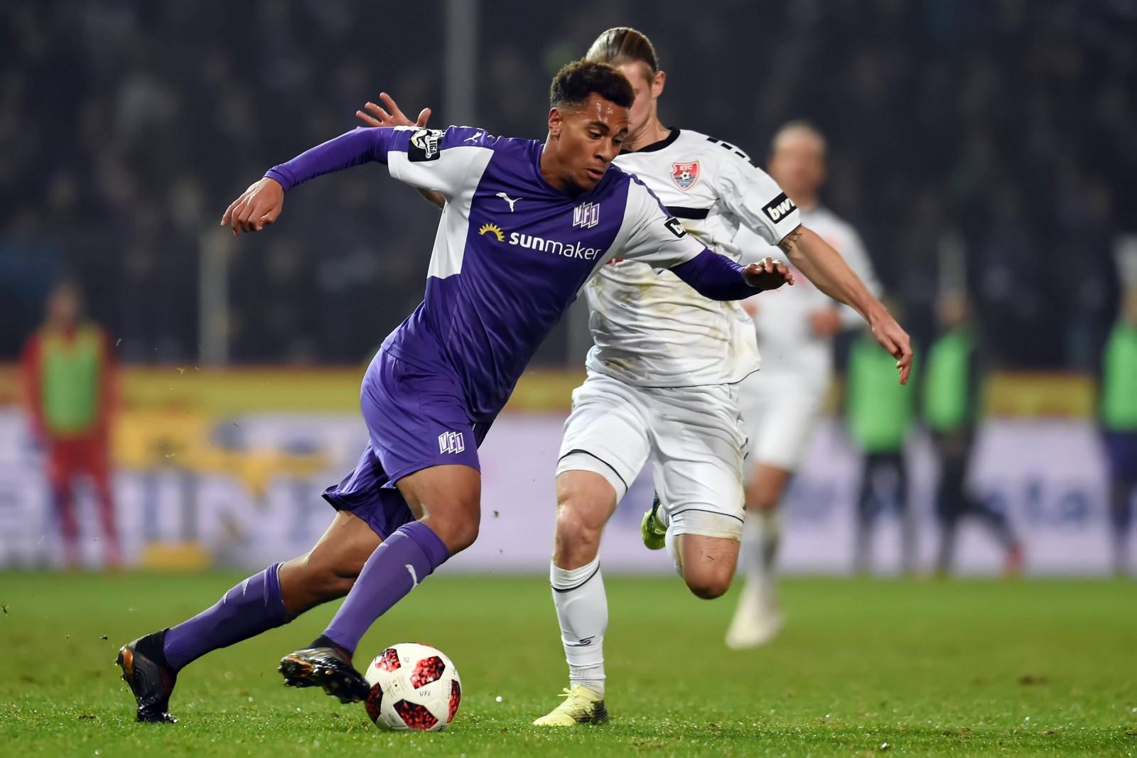 Etiennce Amenyido im Spiel gegen den KFC Uerdingen.