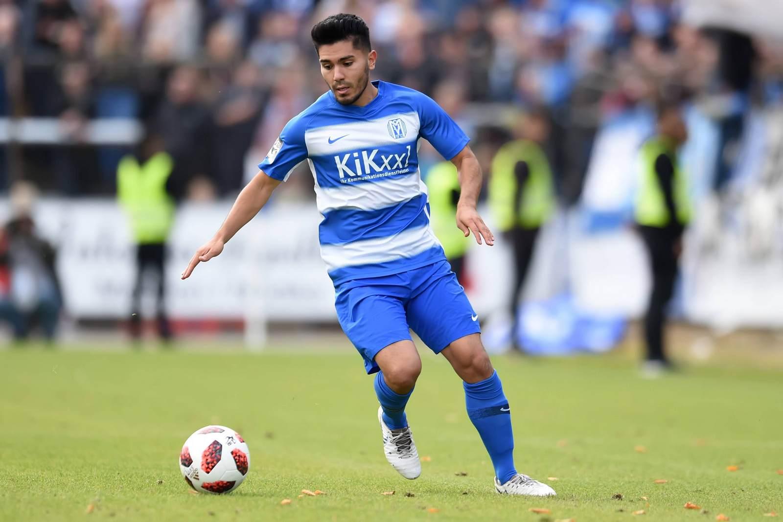 Hassan Amin am Ball für den SV Meppen