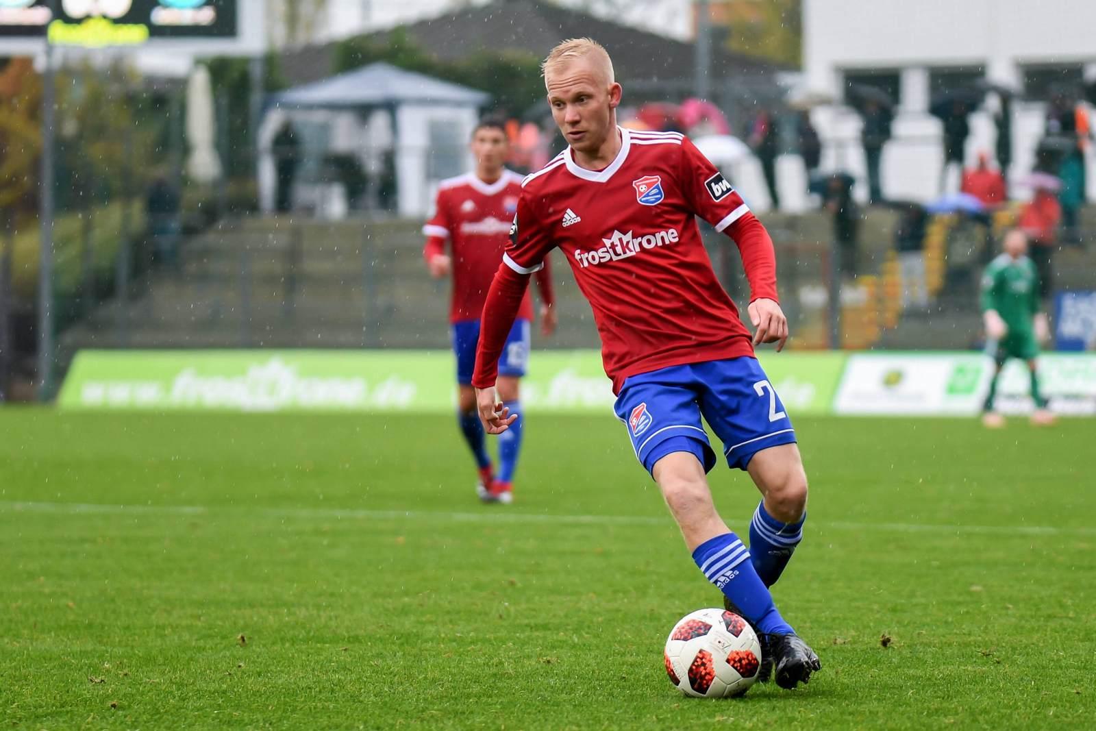 Sascha Bigalke am Ball für die SpVgg Unterhaching