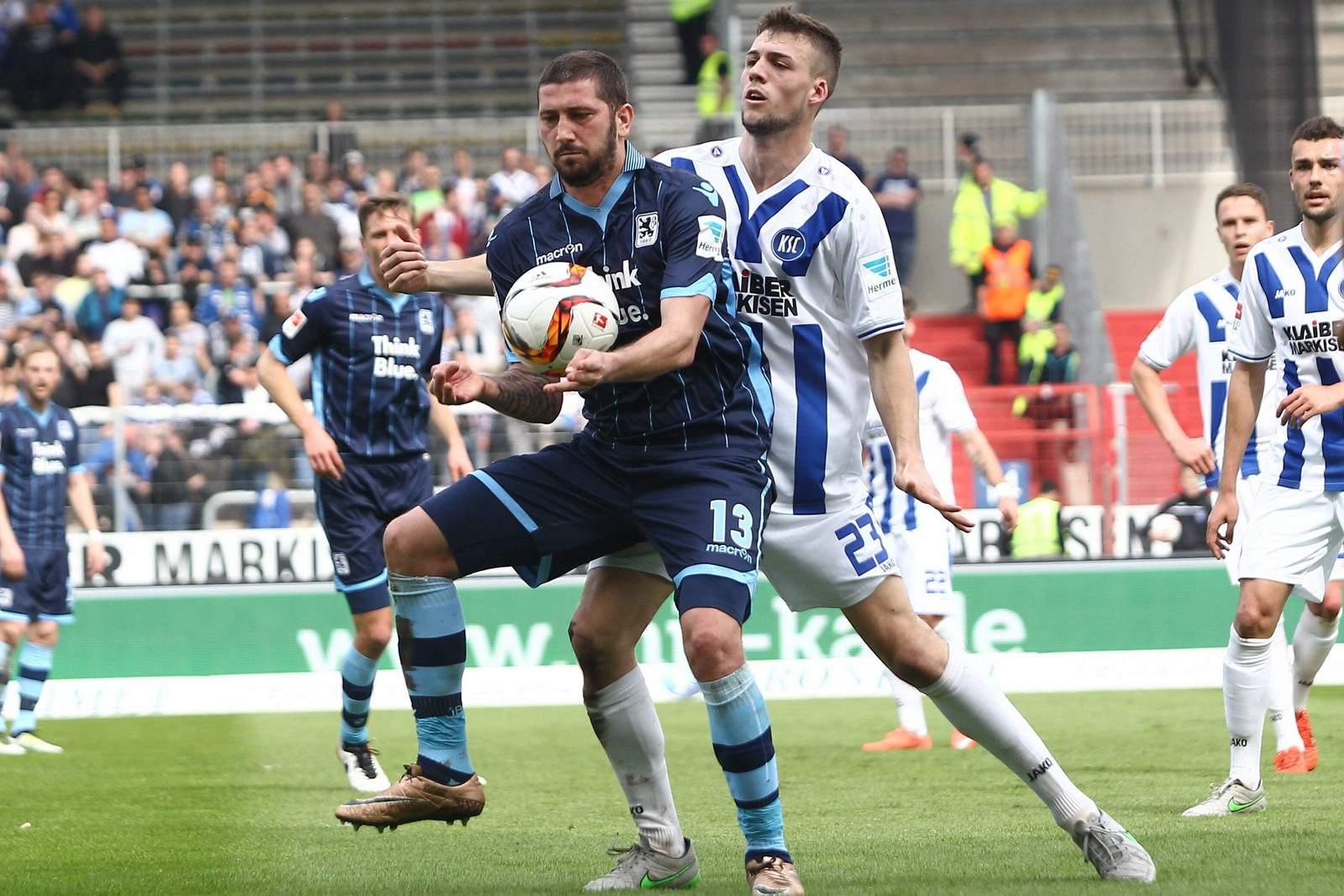 Kann sich Sascha Mölders durchsetzen? Jetzt auf Karlsruhe gegen 1860 München wetten.
