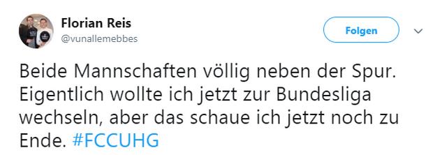 Tweet zu Jena gegen Unterhaching
