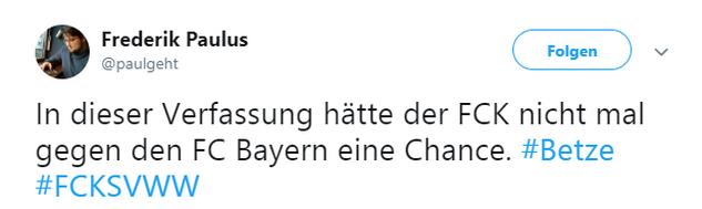 Tweet zu Kaiserslautern gegen Wehen Wiesbaden