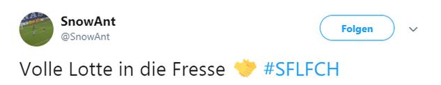 Tweet zu Lotte gegen Rostock.