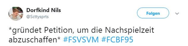 Tweet zu Zwickau gegen Meppen