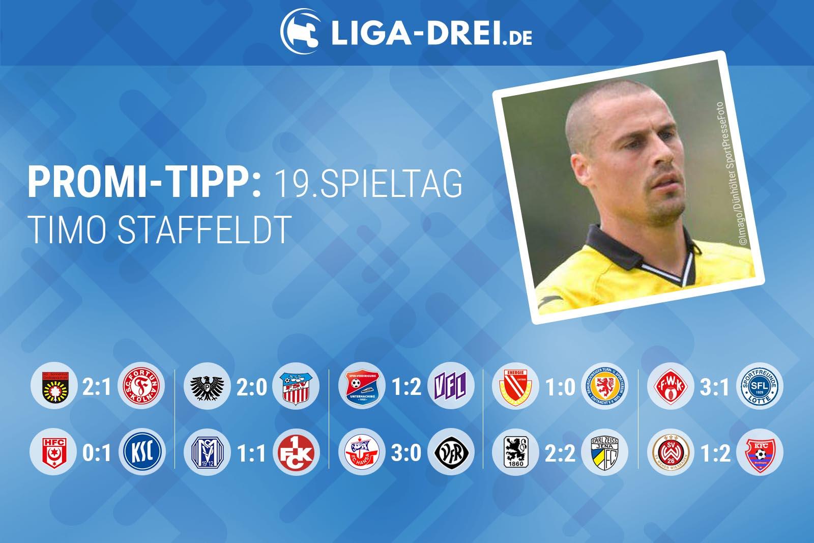 Timo Staffeldt beim Liga-Drei.de Promi-Tipp