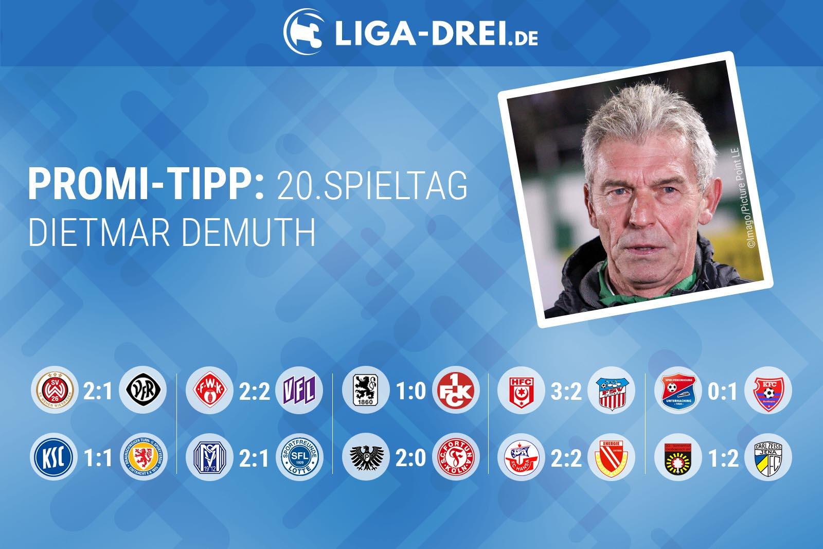 Dietmar Demuth beim Liga-Drei.de Promi-Tipp