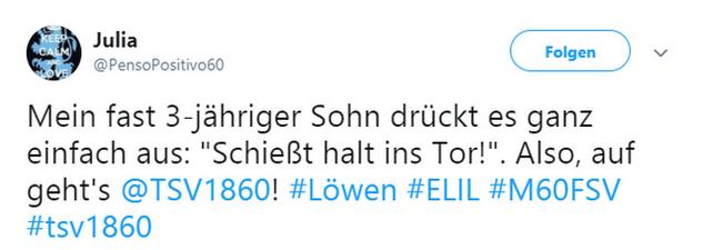 Tweet zu München gegen Zwickau