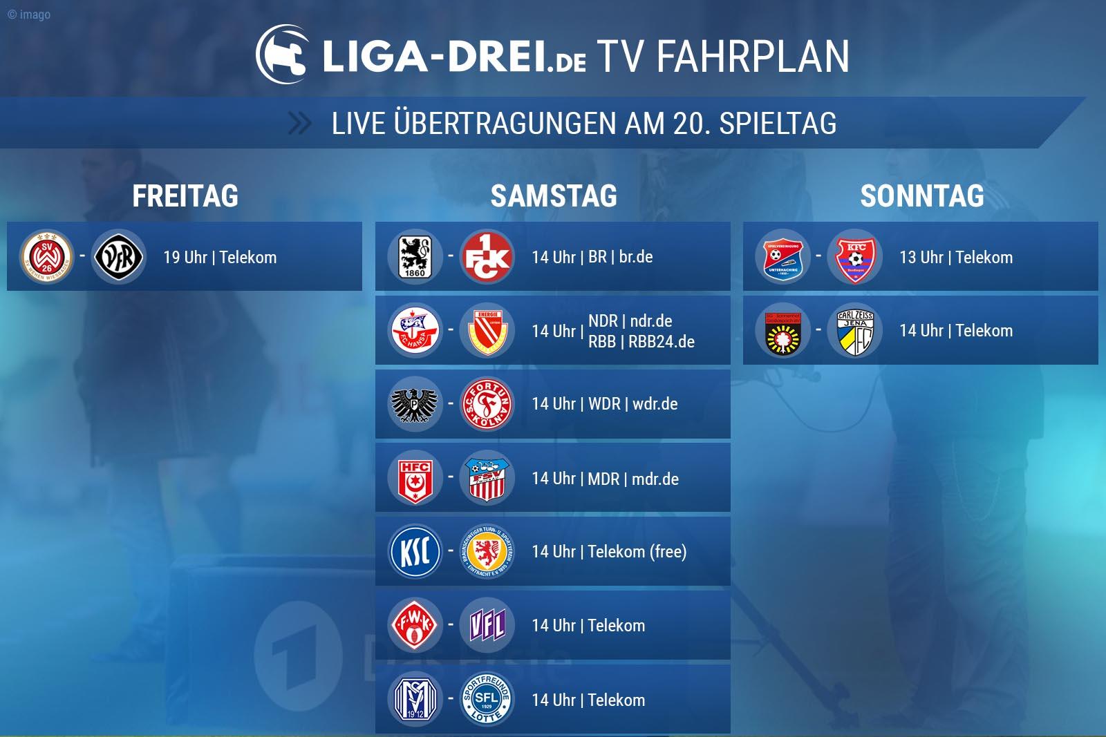 TV-Fahrplan 3. Liga