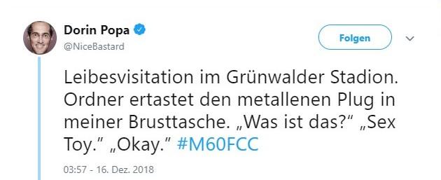 Tweet zu 1860 gegen Jena