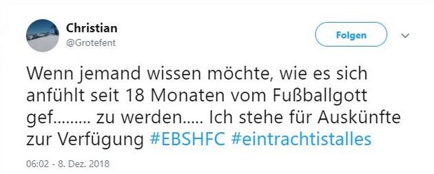 Tweet zu Braunschweig gegen Halle