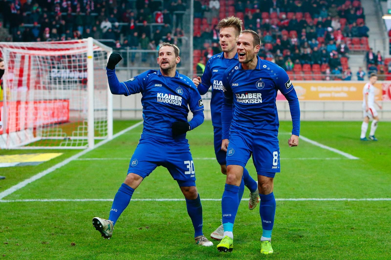 20 Tore erzielte das Sturmduo des KSC in der Hinrunde.