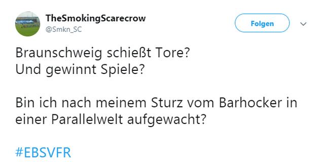 Tweet zu Braunschweig gegen Aalen