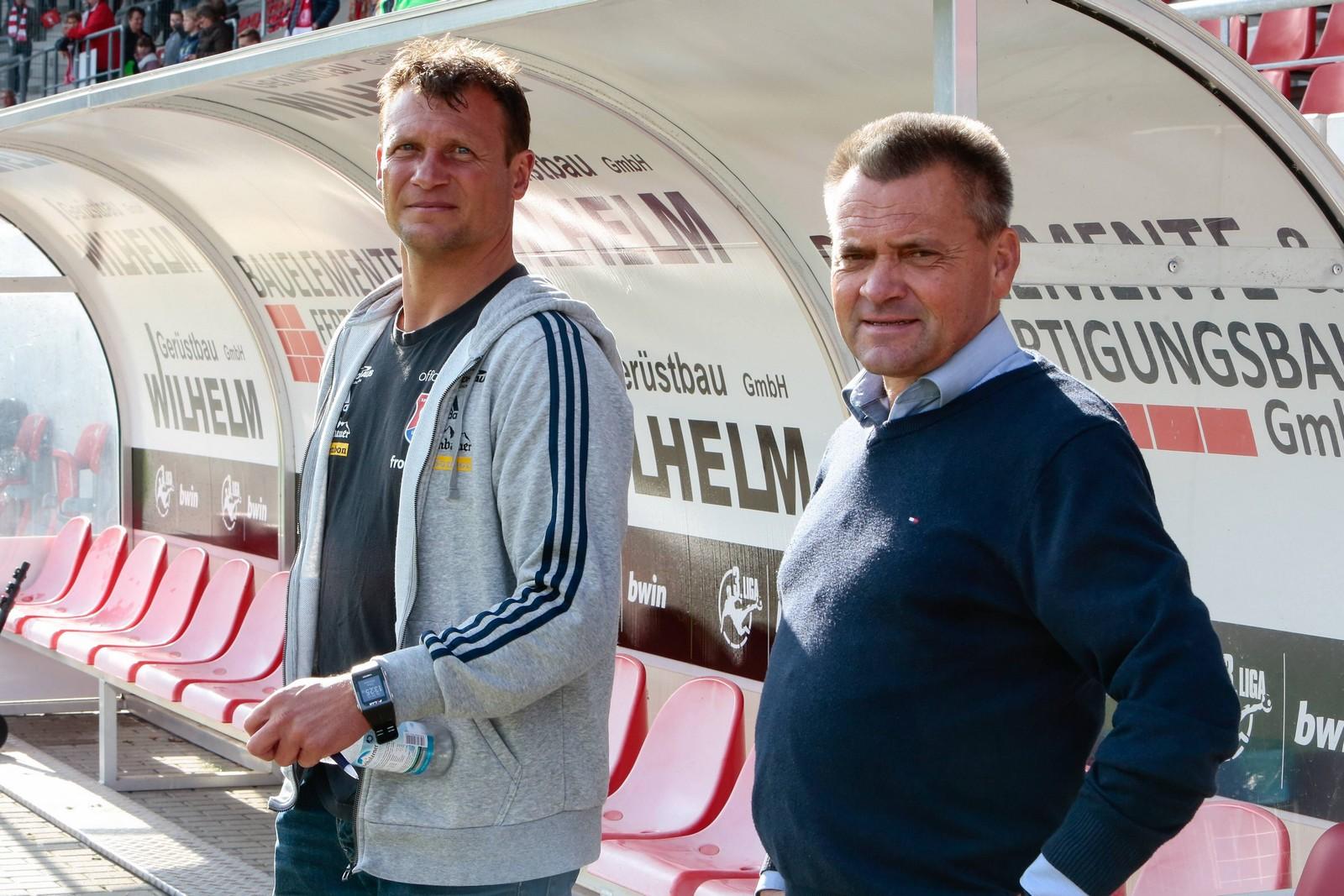 Claus Schromm und Manfred Schwabl von der SpVgg Unterhaching