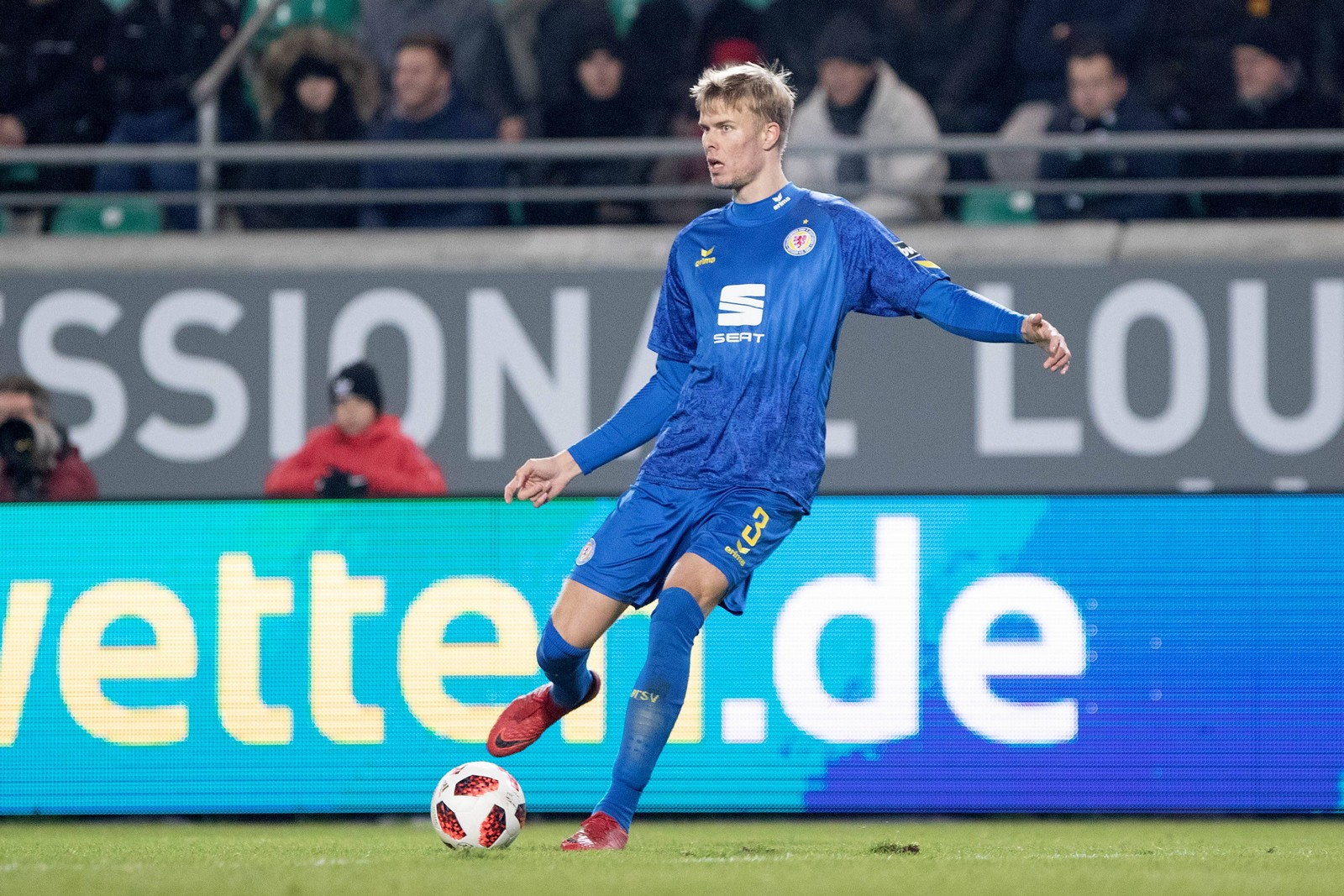 Frederik Tingager im Spiel gegen Preußen Münster.