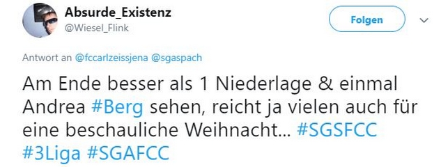 Tweet zu großaspach gegen Jena