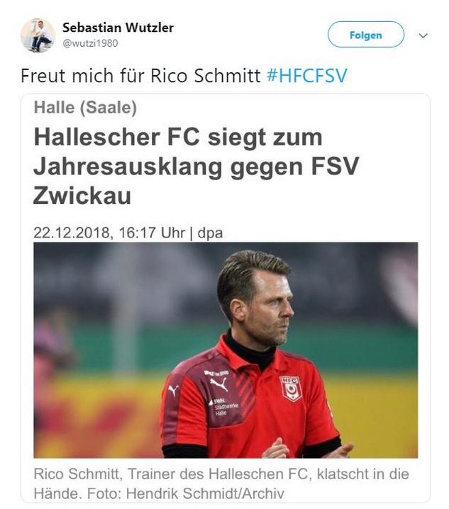 Tweet zu Halle gegen Zwickau