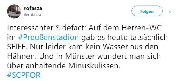 Tweet zu Münster gegen Köln