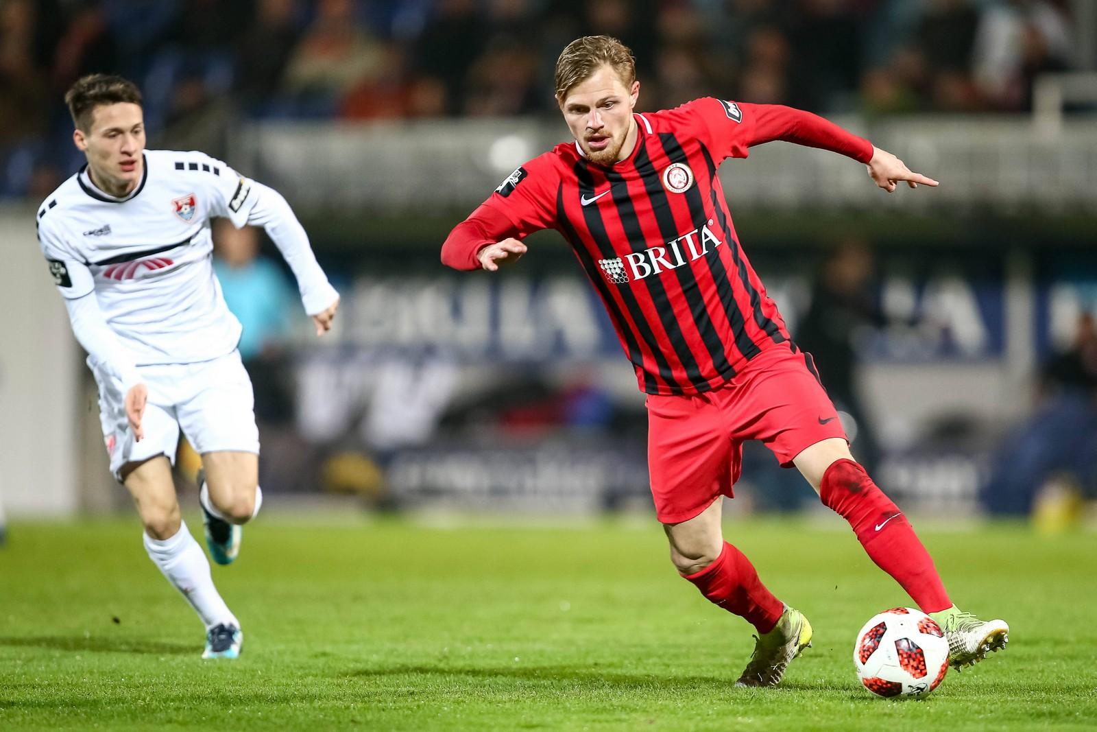 Gegen den KFC Uerdingen sah der Mittelfeldspieler seine fünfte gelbe Karte.